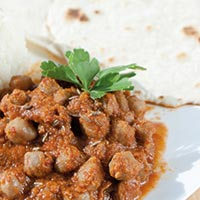 Chickpea-Curry mit Chapati