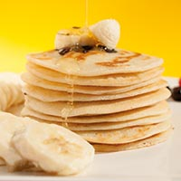 Simple Pancakes mit Banane